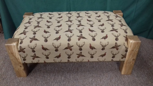 Footstool Scottish beige