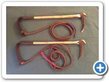 3.Antler handled cane shaft hunting whip - £140.00