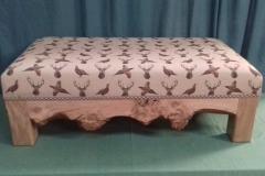 Burr oak frame with Highland Beige fabric