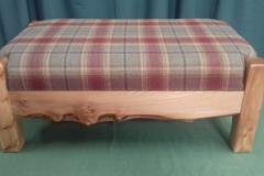 Foot stool Tartan fabric