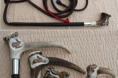 14. Hand Carved Hares Head Hunting Whip fitted with silver collar...£320.00