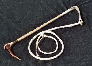 Huntservants Whip - £172.00 ... with Silver Collar - £212.00