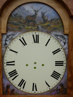 grandfather clock face
